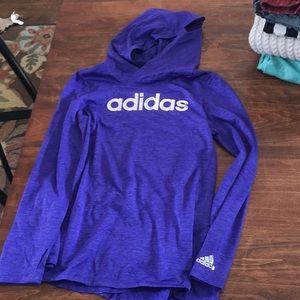 Light weight Adidas purple hoodie pullover 10/12